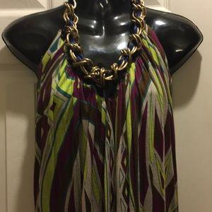 T- Bags Halter Retro Mini Dress Size S